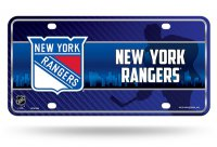 New York Rangers Metal License Plate
