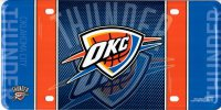 Oklahoma City Thunder Blue Metal License Plate