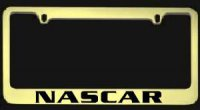 NascarHeavy Duty Brass License Plate Frame