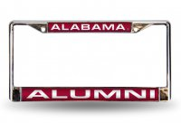 Alabama Crimson Tide Alumni Laser Chrome License Plate Frame