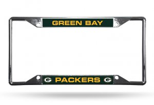 Green Bay Packers EZ View Chrome License Plate Frame
