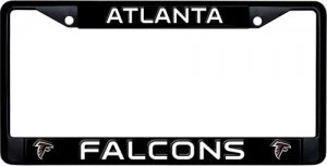 Atlanta Falcons Black License Plate Frame
