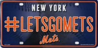 New York Mets #LetsGoMets Metal License Plate