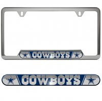 Dallas Cowboys Premium Stainless License Plate Frame