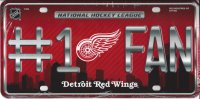 Detroit Red Wings #1 Fan License Plate