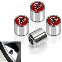 Atlanta Falcons Chrome Valve Stem Caps