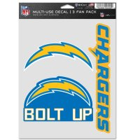 Los Angeles Chargers 3 Fan Pack Decals