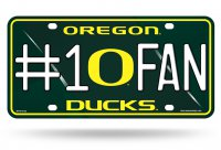Oregon Ducks #1 Fan Metal License Plate
