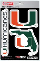Miami Hurricanes Team Decal Set