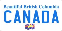 British Columbia Canada Photo License Plate