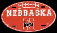 Nebraska Oval Embossed Aluminum Novelty Plate