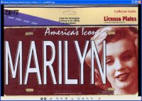 Marilyn Monroe America's Icon License Plate