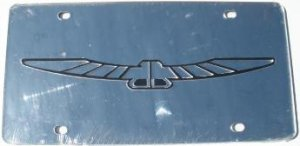 Thunderbird Silver Laser Cut License Plate