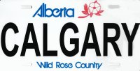 Alberta Calgary Wild Rose Country Photo License Plate