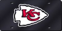 Kansas City Chiefs Black Laser License Plate