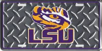 LSU Tigers Diamond License Plate