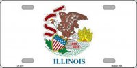 Illinois State Flag Metal License Plate