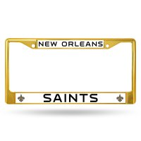 New Orleans Saints Anodized Gold License Plate Frame