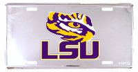 LSU Tigers Anodized Metal License Plate