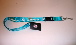 Miami Dolphins Lanyard With Safety Fastener
