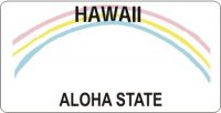 Design It Yourself Custom Hawaii State Look-Alike Plate #2