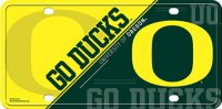 Oregon Ducks Metal License Plate