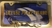 Jaguar Gold License Plate Frame