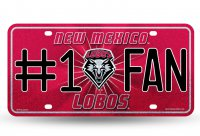 New Mexico Lobos #1 Fan Glitter License Plate