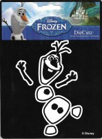 Olaf Frozen Snowman Die Cut Vinyl Decal
