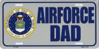 Air Force Dad Metal License Plate