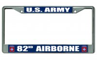 US Army 82nd Airborne Photo License Plate Frame