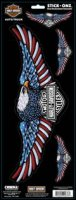 Harley-Davidson Red/White/Blue Eagle Stick-Onz Decal 4pc