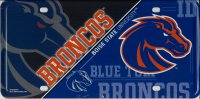 Boise State Broncos Metal License Plate