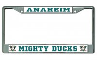 Anaheim Mighty Ducks Chrome License Plate Frame