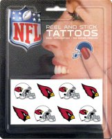 Arizona Cardinals 8-PC Peel and Stick Tattoo Set