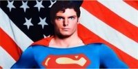 Superman on Flag