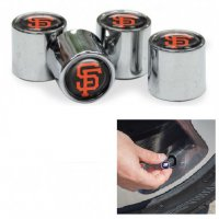 San Francisco Giants Chrome Valve Stem Caps