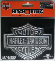 Harley-Davidson Chrome Die-Cast Logo Hitch Cover