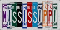 Mississippi Cut Style Metal License Plate