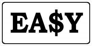 Easy Money Photo License Plate