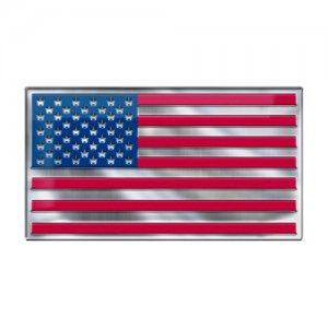 American Flag Color Emblem