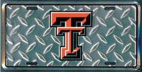 Texas Tech Red Raiders Diamond License Plate