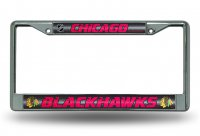 Chicago Blackhawks Glitter Chrome License Plate Frame
