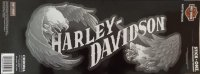 Harley-Davidson Text With Eagles Rear Window Stick On Decal