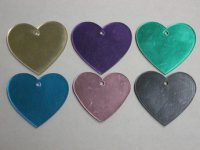 Heart Shaped Engravable Identification Tags