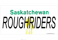 Saskatchewan Roughriders Photo License Plate