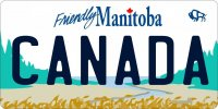 Manitoba Canada Photo License Plate