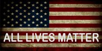 All Lives Matter On American Flag Photo License Plate