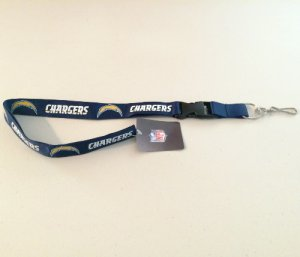 San Diego Chargers Dark Blue Lanyard With Safety Fastener