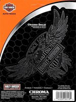 Harley-Davidson Bar & Shield On Eagle Chrome Decal